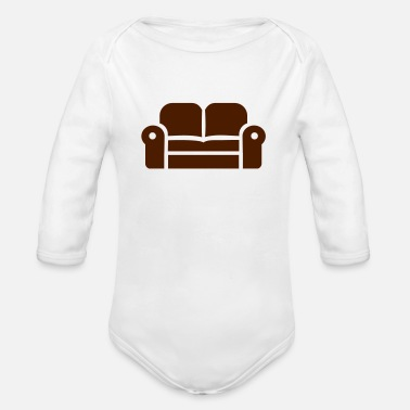 Couch couch - Organic Long-Sleeved Baby Bodysuit