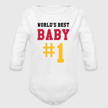 World's Best Baby - Body orgánico de manga larga para bebé