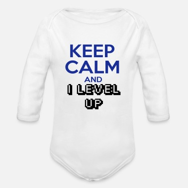 Keep Calm KEEP CALM AND ILEVELUP - Body bébé bio manches longues