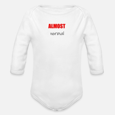 Almost Almost normal - Organic Long-Sleeved Baby Bodysuit