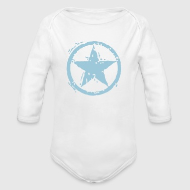 Star With Circle - Stencil - Baby Bio-Langarm-Body