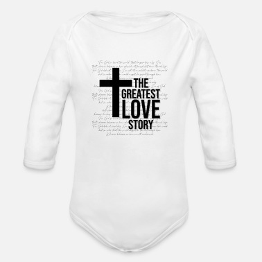 Bible Jesus bible verse - Organic Long-Sleeved Baby Bodysuit
