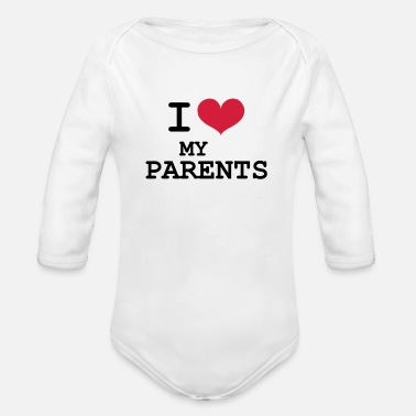 I Love I Love Parents - Baby bio-rompertje met lange mouwen