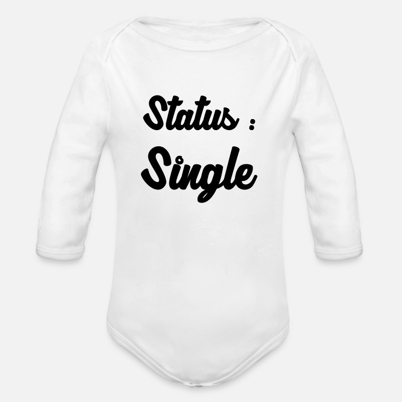 Alcohol Baby Clothing - Single / Fuck / Sex / Seduction / Sexy / Party - Longsleeved-Sleeved Baby Bodysuit white