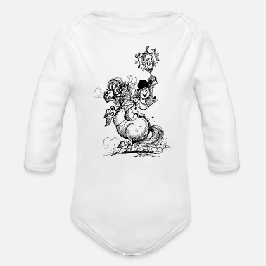 Officialbrands Thelwell 'Champions' - Organic Long-Sleeved Baby Bodysuit