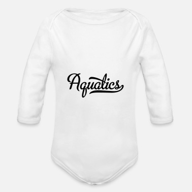Aquatics aquatics - Organic Long-Sleeved Baby Bodysuit