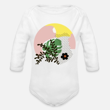 Abstract Abstract shapes - Organic Long-Sleeved Baby Bodysuit