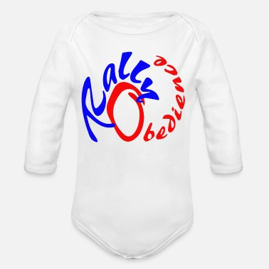 Rally Obedience Rally obedience design for dog sport with dog - Organic Long-Sleeved Baby Bodysuit