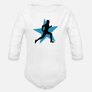 Bootcamp running male ii with star 2c - Baby bio-rompertje met lange mouwen