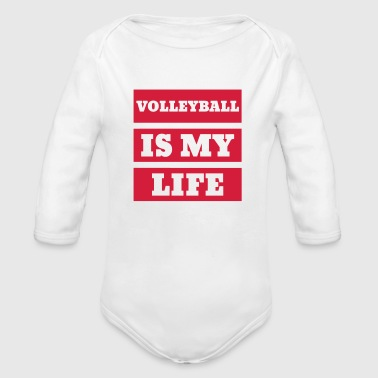 Volleyball - Volley Ball - Volley-Ball - Sport - Baby bio-rompertje met lange mouwen