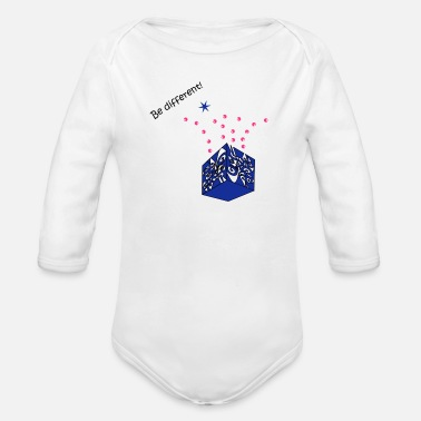 Be Different Be different - Ekologisk långärmad babybody