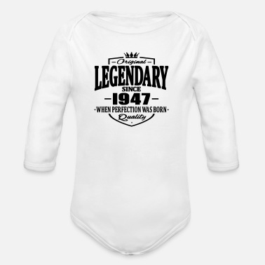 Since Legendary since 1947 - Body bébé bio manches longues