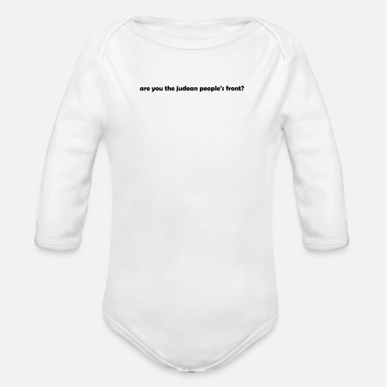 Navy Baby Clothes - Funny - Organic Long-Sleeved Baby Bodysuit white