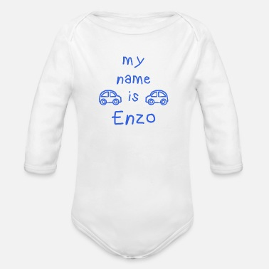 Enzo ENZO MY NAME IS - Organic Longsleeve Baby Bodysuit