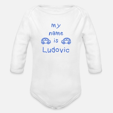 Ludovic LUDOVIC MY NAME IS - Organic Long-Sleeved Baby Bodysuit