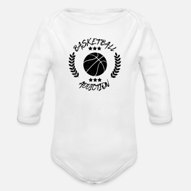 Addicted Basketball Addiction - Addict addicting ball sports - Organic Long-Sleeved Baby Bodysuit