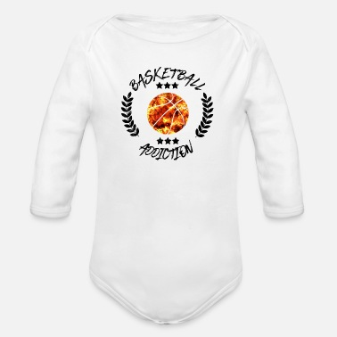Addiction Basketball Addiction - Addict addicting ball sports - Organic Long-Sleeved Baby Bodysuit