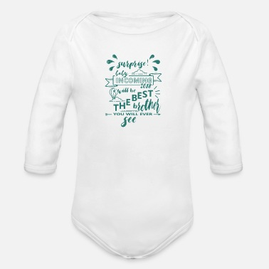 Surprise Surprise baby in the march Babybirth 2018 - Organic Long-Sleeved Baby Bodysuit