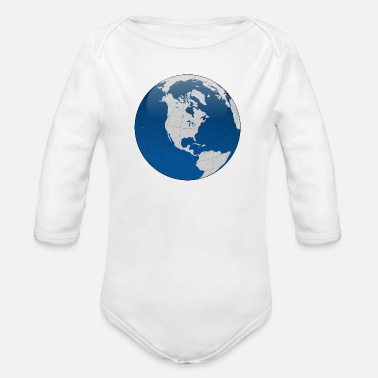 Globe globe - Organic Long-Sleeved Baby Bodysuit