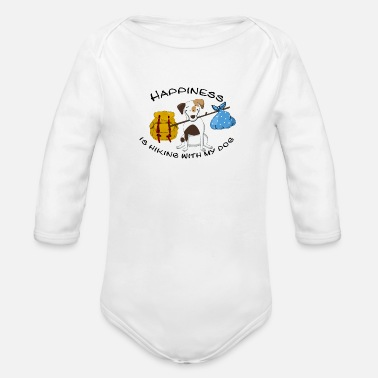 Dogowner Hiking Dogowner Dog Backpacker Nature Pet Love - Organic Long-Sleeved Baby Bodysuit