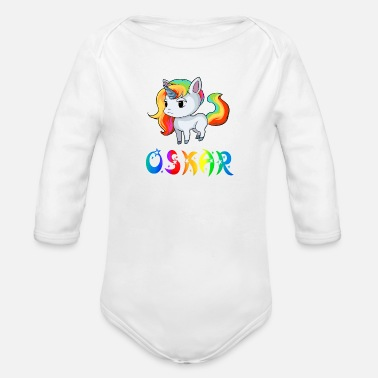 Oskari Unicorn Oscar - Organic Long-Sleeved Baby Bodysuit