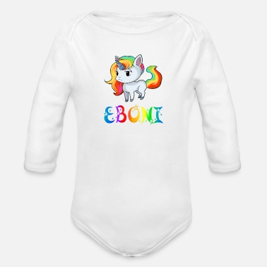 Ebony Unicorn Eboni - Organic Long-Sleeved Baby Bodysuit