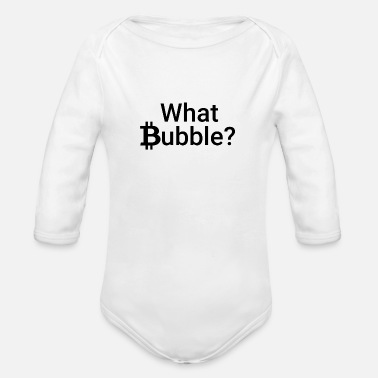 Bitcoin Bubble - Organic Long-Sleeved Baby Bodysuit
