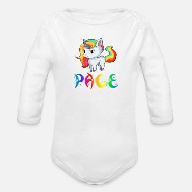 Page Unicorn page - Organic Long-Sleeved Baby Bodysuit