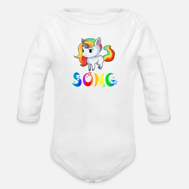 Songs Unicorn song - Organic Long-Sleeved Baby Bodysuit
