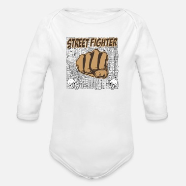 Street Fighter street fighters - Organic Long-Sleeved Baby Bodysuit