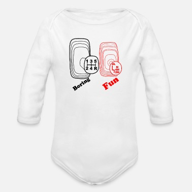 Offroad Vehicles Gear shift four-wheel off-road vehicle Offroad - Organic Long-Sleeved Baby Bodysuit