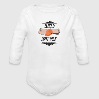 construction worker - Organic Longsleeve Baby Bodysuit