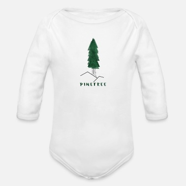 Conifer conifer - Organic Long-Sleeved Baby Bodysuit
