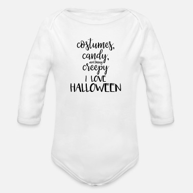 Halloween I love Halloween - Organic Long-Sleeved Baby Bodysuit