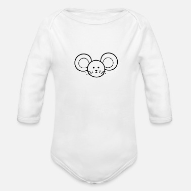 Mouse Mouse mouse - Organic Long-Sleeved Baby Bodysuit