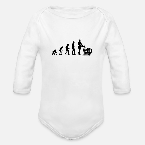 Evolution Babykleidung - Evolution - Baby Bio Langarmbody Weiß