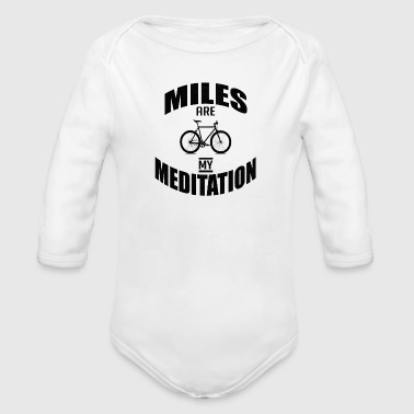 Bicycle Proverbs saying Biking - Organic Longsleeve Baby Bodysuit