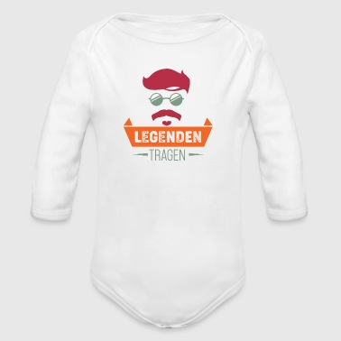 Legends bear beard - Organic Longsleeve Baby Bodysuit