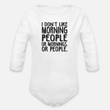 Sayings saying - Organic Long-Sleeved Baby Bodysuit