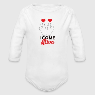 I come alive Alive - Organic Longsleeve Baby Bodysuit