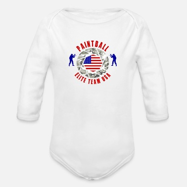 Team Usa Paintball Elite Team USA / Sport d'équipe cadeau - Body bébé bio manches longues