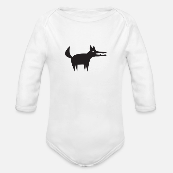 Gift Idea Baby Clothes - Wild animal - Organic Long-Sleeved Baby Bodysuit white