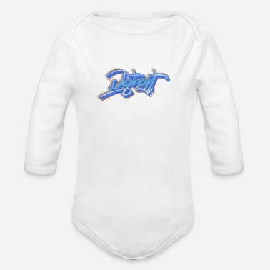Down With Detroit Detroit - Organic Long-Sleeved Baby Bodysuit