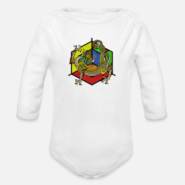 Mythical Beast mythical creatures - Organic Long-Sleeved Baby Bodysuit