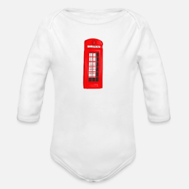 Booth phone booth - Organic Long-Sleeved Baby Bodysuit