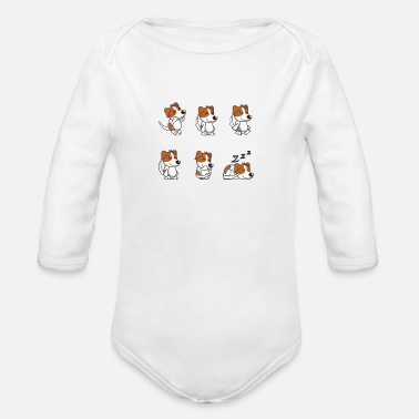 Happy Puppy  HAPPY PUPPY  - Organic Long-Sleeved Baby Bodysuit