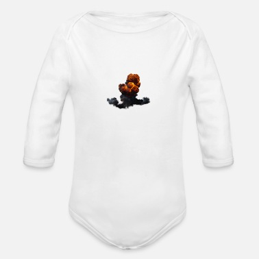 Blow Up My main goal is to blow up - Organic Long-Sleeved Baby Bodysuit