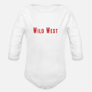 West Berlin wild West - Organic Long-Sleeved Baby Bodysuit
