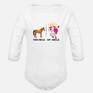 Uncle YOUR UNCLE MY UNCLE - Organic Long-Sleeved Baby Bodysuit
