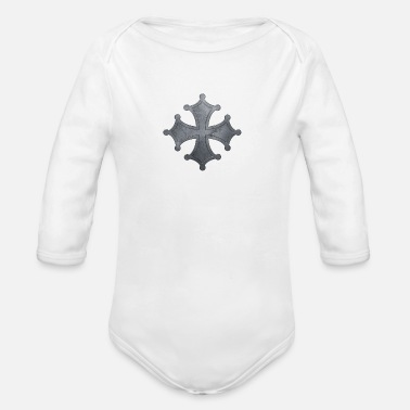 Iron Metal Occitan cross metal iron - Organic Long-Sleeved Baby Bodysuit